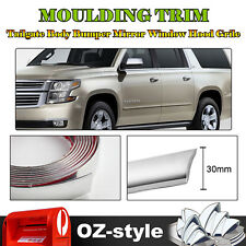 5M Silver 30mm Moulding Trim Car Window Door Garnish Hood Bumper Decorate Strip