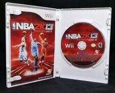 NBA 2K13 (Nintendo Wii, 2012) *Good Condition w/ Book AS SEEN