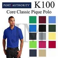 Port Authority K100 Mens Core Classic Pique Polo XS-5XL