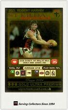 2001 AFL Teamcoach Gold Parallel Card 250 Robert Harvey (ST Kilda)