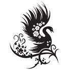 Sticker Déco XXL Oiseau Design Floral Chinois 60x45 cm à 80x60 cm (OIS037)