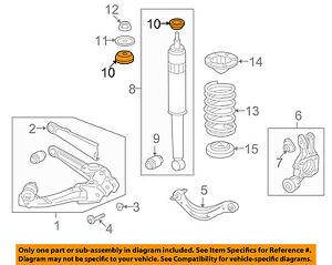 HONDA OEM Rear Suspension-Shock Bumper 52631SNAA22