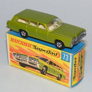 MATCHBOX SUPERFAST #73a MERCURY COMMUTER VINTAGE 1970 ISSUE NEAR MINT BOXED