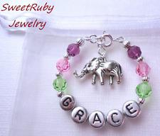 Personalized Little Elephant Bracelet-Baby/Newborn-Elephant Theme,Elephant Gift