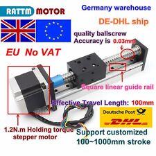 【Eu&UK】1605 Ball Screw 100mm Slide Stroke Linear Precision Z-Axis +Stepper Motor