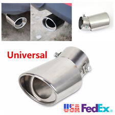 Durable Car Universal Round Stainless Steel Chrome Exhaust Tail Muffler Tip Pipe