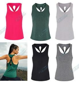 WOMEN'S YOGA KNOT VEST TOP, KEEP COOL. WICKING TOP FOR YOGA, WORK OUTS, GYM, FIT