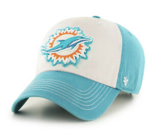 NWT NFL Miami Dolphins '47 Brand Endicott Clean Up Adjustable Strapback Hat Cap