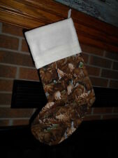 LOTS OF MOOSE HANDMADE CHRISTMAS STOCKING