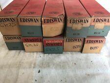 Mazda Ediswan 6K25 x5. NOS vacuum tubes. Original packaging. Vintage.