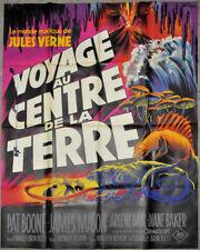Journey Sich Die Mitte Von Erde R / 1960'S Orig 46X63 Film Poster Jules Verne