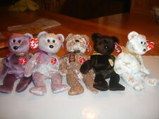 TY RETIRED BEANIE BABIES X  6 SIGNATURE BEARS 1999 TO 2004