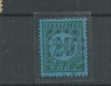 Ned. Indie  P4C  Port 1874  VFU/gebr  CV 30 €