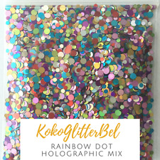 Rainbow Holographic Circle Dot Glitter Mix  | 1 TSP | Acrylic Gel Nail Art Inspo