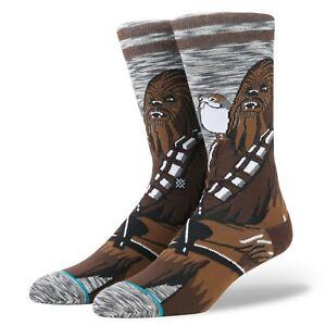 Stance X Star Wars Chewbacca Porg Pal Crew Socks Men's Size Large 9-12