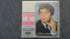 Chris Andrews - To whom it concerns 7'' MISPRESS