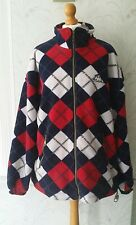 Vintage Royal Harbour Country Wear Red White Blue Checked Fleece Jacket Size L