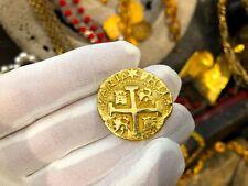 SOLID GOLD REPO PERU 8 ESCUDOS 1740 PIRATE GOLD COINS SHIPWRECK TREASURE COB
