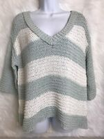 Free People Slouchy Chunky Knit Boho Sweater striped Womens Size Small