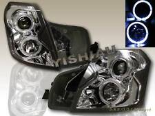 2003-07 CADILLAC CTS PROJECTOR HEADLIGHTS TWIN CCFL HALO CHROME CLEAR HOUSING