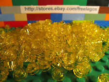 LEGO 4073 Transparent Yellow 1x1 STUDS Dots 1 x 1 Round Plates - 200 Pieces