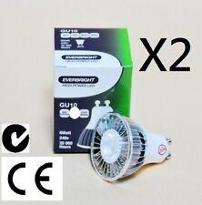 2 X GU10 240V 6W LED Cool White Downlight 400Lumens!!!