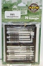 Ratio 211 Telegraph Poles x 10.  (N Gauge) Railway Model