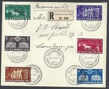 Luxembourg covers 1951 MI 478-483  R- FDCcover