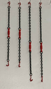 Tractor Trailer Equipment Chain Tensioners - In Authentic Mammoet Red 1/87th