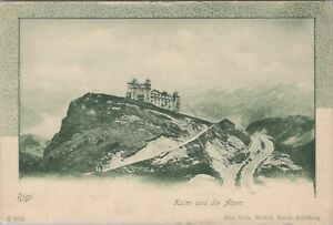 Vintage postcard, Rigi - kulm und die alpen - Switzerland