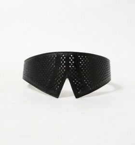 ALAIA  Perforated Leather Belt 75
