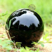 Asian Rare Natural Quartz Black Magic Crystal Healing Ball Sphere 50mm + Stand