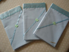 Lovely Smaller Handmade BLUE Baby Sheet & BLUE satin to Top Edge