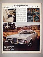 Mercury Cougar XR-7 PRINT AD -- 1971