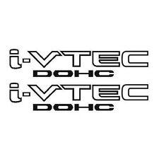 2x Black i-VTEC DOHC Vinyl Decal Stickers Emblem Honda Acura ivtec