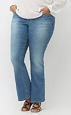 d1dff82dfd0 Lane Bryant Sz 16 Low Rise Stretch Boot Cut Jeans W whiskers 16w