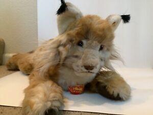 """Vintage Steiff MOLLY LUCHS Lynx 0345/50, 26"""", Rare"""