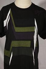 FASTBOARDING Size M Medium Black 100% Cotton Short Sl. T-Shirt w/Front Graphic