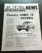 "1964 ISUZU BELLETT 1500 SEDAN AD A4 POSTER GLOSS PRINT LAMINATED 11.7/""x8.3/"""