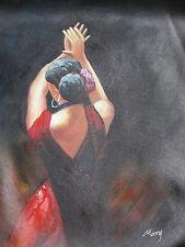 Flamenco Dancer Grande Olio Painting Tela Originale Contemporary Moderno Arte SEXY