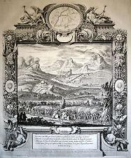 SALINS-LES-BAINS Holländischer Krieg 1674 sehr grosse Ansicht Kupferstich Orig!