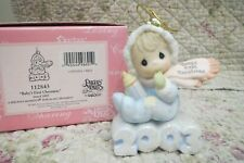 Precious Moments Ornament Babys 1st First Christmas 2003 Boy on sculpture