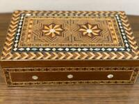 """Syrian Handmade Wood Box Marquetry Inlaid Mosaic & Mother of Pear (10.6x6.4"""")"""