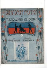 VINTAGE WHY DON'T YOU TRY OR THE ROLLING CHAIR SONG SHEET MUSIC MS718