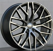 SET(4) 20X9 WHEELS AUDI RS STYLE S4 A6 S6 RS4 RS5 RS6 A5 S5 MACHINED DARK GREY