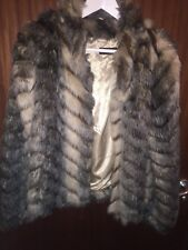 MISS SELFRIDGE FAUX FUR COAT JACKET SIZE M RRP £95 BLOGGERS FAV