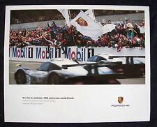PORSCHE OFFICIAL 993 911 GT1 LE MANS FRIENDS RACECAR SHOWROOM POSTER 1998