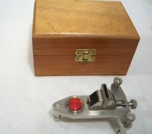 Vintage SWISS HR Watchmakers Large POISING BALANCE TOOL with Factory Level BOX