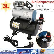 1/6HP Compresseur Airbrush unique cylindre Piston Air Compresseur avec réservoir
