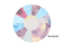 1440 Preciosa Genuine Czech Crystals 16ss Rose Opal AB Viva Flatbacks, ss16 4mm